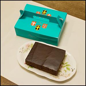 レストラン「スカンディヤ」のチョコレートケーキ