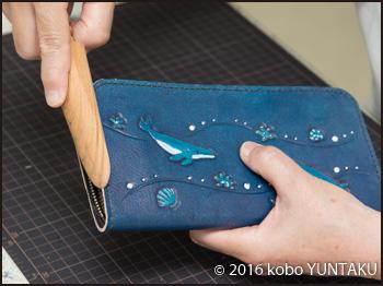 ザトウクジラ(座頭鯨)の長財布