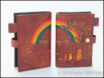 虹と猫のシステム手帳(ミニサイズ)