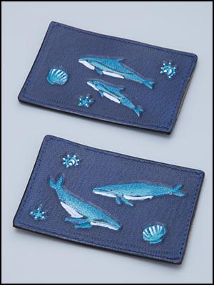 ザトウクジラとイルカのパスケース