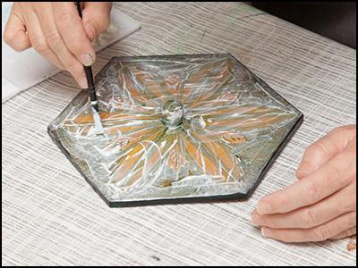 正六角形の器の修理1