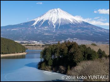 「休暇村 富士」5階から望む富士山