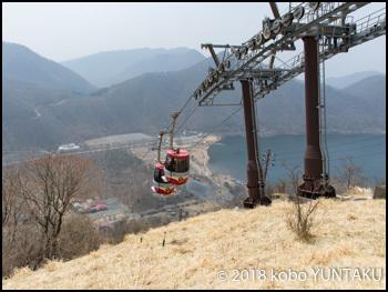 日本初の2両連結式ロープウェイ「榛名山ロープウェイ」