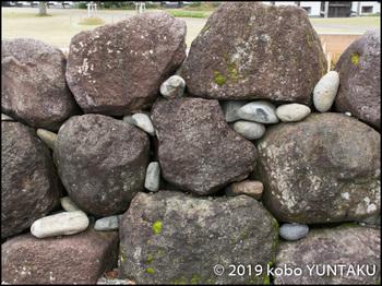 金沢城 石垣:自然石積み