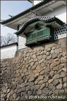 金沢城/石川門/石垣:粗加工石積み