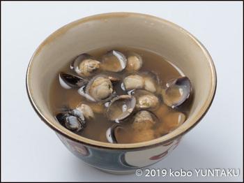 宍道湖産ヤマトシジミを使った「しじみの味噌汁」
