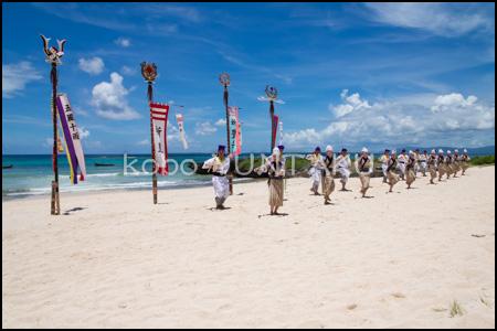 黒島の豊年祭「奉納舞踊 鎌踊り」