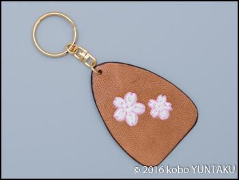 しだれ桜のリングキーホルダー