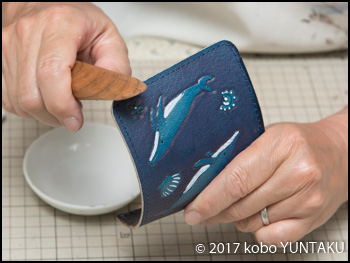 ザトウクジラの三つ折キーホルダー