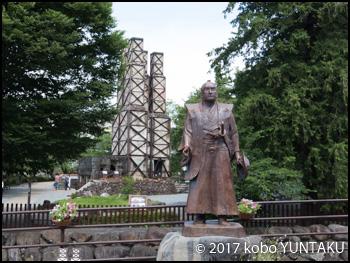 韮山反射炉 江川英龍の像