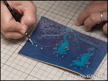 タツノオトシゴの三つ折キーホルダー